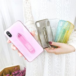 Transparent Soft Case Kickstand Australia - TPU Soft Cell Mobile Phone Case Slim Cover With Kickstand Holder Stand Clear Transparent Case For iphone 6 7 8 X Xs Max Xr case