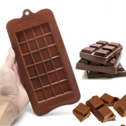 ice block mold NZ - 24 Grid Square Chocolate Mold silicone mold dessert block mold Bar Block Ice Silicone Cake Candy Sugar Bake Mould DHF499