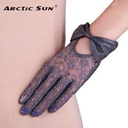 $enCountryForm.capitalKeyWord Australia - Women's Genuine Leather Gloves Bowknot Lace Autumn Winter Sunscreen Sheepskin Gloves Female Short Style Touchscreen L177N