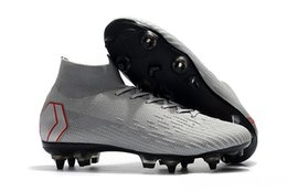 mens elite shoes UK - 2019 New Arrival Mens Soccer Shoes Mercurial Superfly 360 VII Elite CR7 SG AC Soccer Cleats Neymar Football Boots Chuteiras Cheap Blue