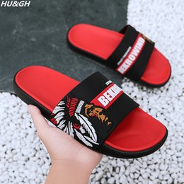 db25356bd New Summer Men's Slippers 2019 Fashion Outdoor Slides Indoor Non-slip Slippers  Beach flip flops Personalized men slippers 40-45