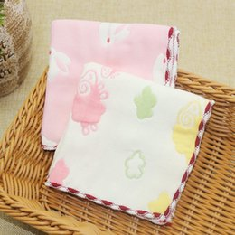 handkerchief Australia - 2PCS Baby Towels Saliva Bibs Baby Face Towel Nursing Boys Girls Washcloth Handkerchief For kids Shower 25*25CM