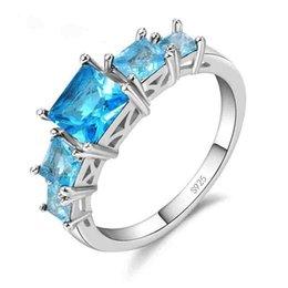 $enCountryForm.capitalKeyWord Australia - New Fashion Jewelry 925 Sterling Silver Ring Bridal Set Trendy Style Cubic Zirconia Women Girls Party Engagement