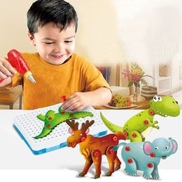 Electronic Tools Australia - Electric Drill Screws 3D Puzzle Child Tool Toys For Boys Pretend Play Games Assembling Animals Electronic Designer For Kids