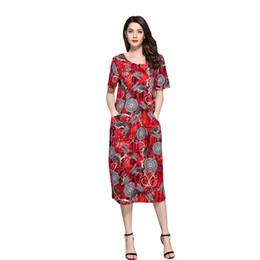$enCountryForm.capitalKeyWord UK - wholesale 3XL Plus Size Womens H Line Vintage Loose Fit Dragonfly Print Scoop Collar Dress