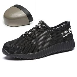 $enCountryForm.capitalKeyWord Australia - Daokfpo Men Safety Shoes Breathable Summer Boots Women Anti-smashing Steel Toe Caps Anti-piercing Mesh Mens Work Shoes Nnt-37 MX190819