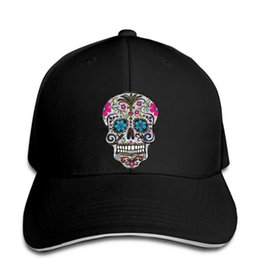 Wholesale sugar adult online – design hip hop Baseball caps Fashion Cool hat equin Sugar Skulls Customized Printed snapback