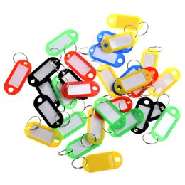 $enCountryForm.capitalKeyWord Australia - 30 X Colored Plastic Key Fobs Luggage ID Tags Labels Key Ring with Name Cards For Many Uses - Bunches Of Keys Luggage C19011001