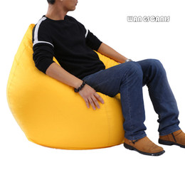 color bean bag chair NZ - Waterproof Stuffed Animal Storage Toy Bean Bag Solid Color Oxford Chair Cover Beanbag
