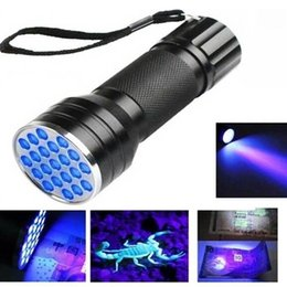 ultra violet lamp Australia - 100PCS new Fine UV Ultra Violet 21 LED Flashlight Mini Blacklight Aluminum Torch Light Lamp