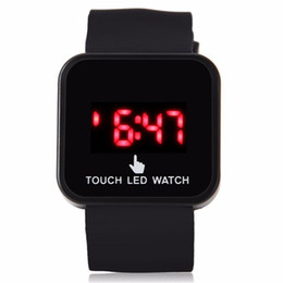 Men Digital Wrist Watches UK - New Colorful Unisex Men Women LED Digital Touch Screen Silicone Date Time Sport Wrist Watch Cai0192