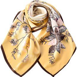 Small White Towels Australia - Hangzhou silk scarf female 100% silk summer white small square towel Korean decorative literary silk scarf 88*88
