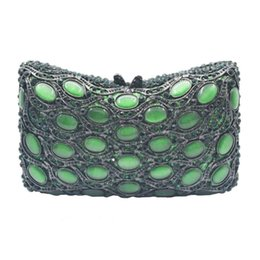 clutch bag party green Australia - Green Clutch Bags Ladies Evening Bags Luxury Crystal U Shape Green Party Purse Crossbody Bags SC998 T191029