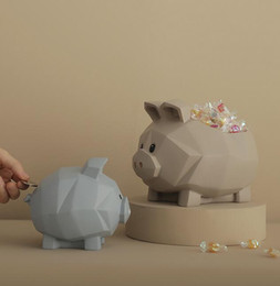 Folk Art Christmas Australia - Geometric Pig Storage Box Statue Animal Piggy Bank Living Room Decor Christmas Gift