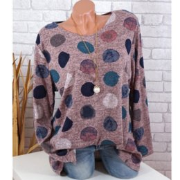 $enCountryForm.capitalKeyWord Australia - 5XL Autumn Long Sleeve T-Shirts Women 2019 Casual O Neck Colorful Circle Print Shirt Slim TShirt Basic Tops Tee Blusas 4XL Top