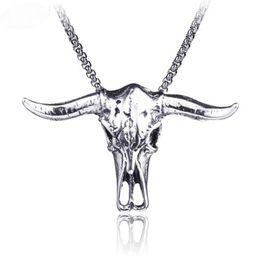 $enCountryForm.capitalKeyWord UK - Hip Hop Men Titanium Steel Skull Witch Pentagram Necklace Punk Rock Mask Scissors Cross Pendant Necklaces Mens Gothic Collar Jewelry