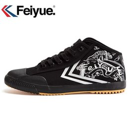 Feiyue Sneakers NZ - Feiyue new High Black shoes Kungfu Retro Martial Arts Shoes women men sneakers