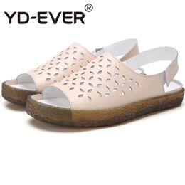 $enCountryForm.capitalKeyWord Australia - Genuine Leather Plus Size Back Strap Flat Sandals Women 2019 Summer Roman Women's Slippers Woman Footwear Ladies shoes #78