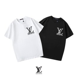 4xl women clothes NZ - Embroidered letters logo print Paris T-shirt 4XL LouissV Luxury t shirts Europe men women Designer Clothes brand summer mens polo shirts