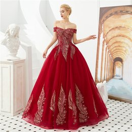 $enCountryForm.capitalKeyWord Australia - Burgundy Luxury Peacock Lace Quinceanera Dresses New Long Sexy Backless Ball Gown Appliques Beads Prom Gown Vestido De Festa CPS1300