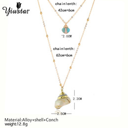 $enCountryForm.capitalKeyWord Australia - Yiustar Ocean Seaside Conch Necklace Summer Beach Natural Conch Shell Pendant Necklace Bohemia for Women Girls Kids Best Bijoux