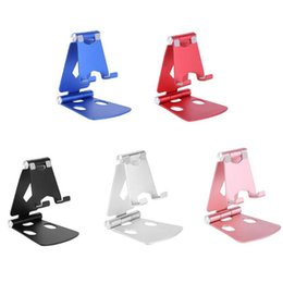Wholesale Folding Phone bracket Aluminium Alloy Dual Foldable Desktop RotaryTablet Stand Mobile Phone Holder Mount Bracket for iPhone iPad for Samsung