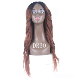 $enCountryForm.capitalKeyWord Australia - Ombre Wigs 613 Blonde Color Straight Purple Body Wave Hair Wigs 2# 4# Blue High Quality Heat Resistant Synthetic Straight Lace Wigs