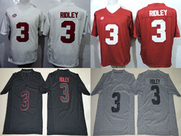 Football Free Australia - Men college alabama crimson tide jerseys white red black gray #3 Ridley adult size football jersey stitched free shipping