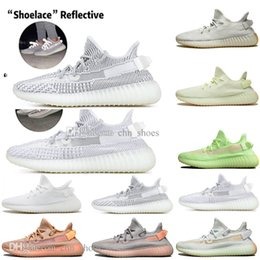 glow dark sneakers NZ - With Box Drop Shipping Kanye West Clay V2 Static Reflective Glow In The Dark Mens Running Shoes True Form Women Men Sports Designer Sneakers