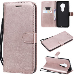 Color Leather Bags Australia - For Motorola Moto G7 G7 Plus Case Flip Cover Wallet Stand Pure Color PU Leather Mobile Phone Bags Coque Fundas