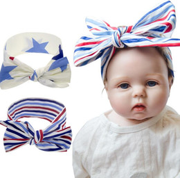 $enCountryForm.capitalKeyWord Australia - Tatyking Children's National Day Hair Band Baby American Independence Day DIY Rabbit Ears Star Stripe Knotted Headwear PH0189