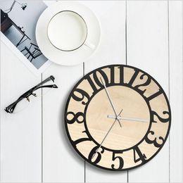 Discount hid design - Round Clock Vinyl Record Clock Modern Design Wall Watch Hidden Safe Office Kitchen Clocks Relol Para Casa Wooden Watch