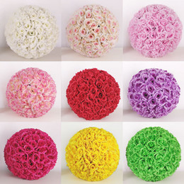 Hanging rose balls for weddings online shopping - 20CM CM CM CM Wedding Silk Pomander Kissing Ball Flower Ball Decorate Flower Artificial Flower For Wedding Garden Market Decoration