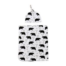 $enCountryForm.capitalKeyWord Australia - 2018 Brand New Toddler Newborn Infant Kids Baby Girls Boys Unisex Cotton Animal Print Wrap Soft Blanket Sleeping Towel Hat
