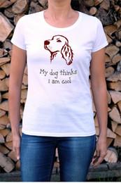 $enCountryForm.capitalKeyWord Australia - Dog painted shirt gift idea for dog owner men women happy pet cotton apparel irish setter portrait custom pet t-shirt with text