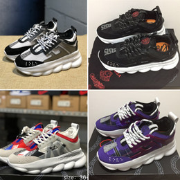 designer chaîne réaction hommes chaussures de sport marque de luxe baskets  noir violet orange bleu vert semelle de mode de plus en plus 7028a6bc0c8