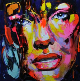 $enCountryForm.capitalKeyWord Australia - Hand painted Palette knife painting portrait Palette knife Francoise Nielly Face Abstract Oil painting Impasto figure on canvas Decor FN87