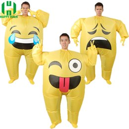 $enCountryForm.capitalKeyWord Australia - nflatable Emoji Costume for Adult Cosplay Clothing Funny Smile Cry Face Full Body Purim Carnival Halloween Party Costumes Inflatable Fac...