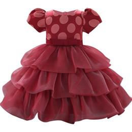 $enCountryForm.capitalKeyWord Australia - Christening 1 Year Baby Girls Printed Flower Newborn Dresses Infant Kids Party Princess Tutu For Girls 1st Birthday Dresses Y19061101