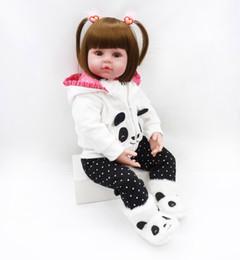 $enCountryForm.capitalKeyWord Canada - New Hot Boneca Reborn 19 inch 48cm Silicone Vinyl body baby Dolls Reborn Bebe Realista Fashion Doll Lifelike Bebe Newborn Doll