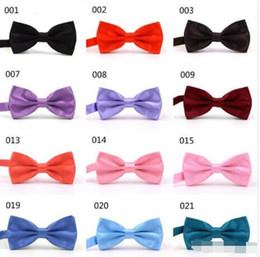 "$enCountryForm.capitalKeyWord Australia - ""MIX COLORS12*5.5 Men STAIN Solid COLORS Bow Ties Butterfly Gentleman Wedding Party Adjustable Wedding PLAIN Prom boe tie"