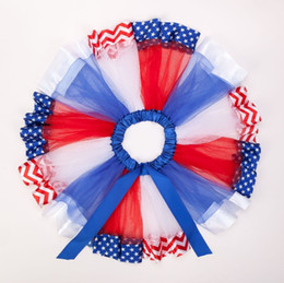 $enCountryForm.capitalKeyWord Australia - Independence Day Baby Girls Tutu Skirt 4th of july Kids Star Stripe Tulle Mini Skirts Fashion Bow Rainbow Color Children Dance Skirt Y2273