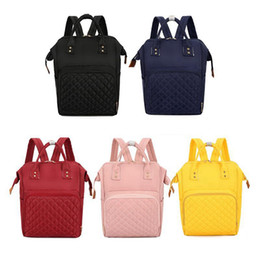 Designer backpack Diaper bags online shopping - Diaper Bags Mommy Backpack Nappies Bags High Capacity Mother Maternity Backpack Candy Color Designer Travel Bag HHA550