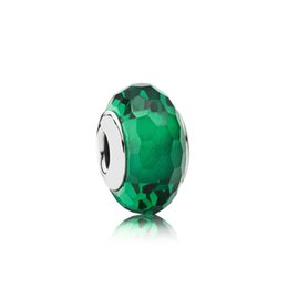 $enCountryForm.capitalKeyWord UK - NEW 100% Sterling Silver 1:1 Glamour 791619 Forest Green Faceted Charm Glass Bead Original Women Wedding Fashion Jewelry 2018