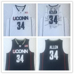$enCountryForm.capitalKeyWord Australia - NCAA basketball jersey Uconn Connecticut Huskies ray 34 allen college throwback jersey stitched embroidery navy blue white size S-2XL