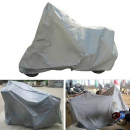 protective motorcycle covers Canada - High Quality Full Protective Motorcycle Covers Universal Silver Anti UV Waterproof Dust Motorcycle Quad Bike Storage Bag Cover
