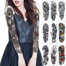 Greek Gifts Wholesale Australia - Big Large Full Arm Temporary Tattoo Ancient Greek Style Sleeve Leg Tattoo Sticker Transfer Paper Holiday Party 2019 Fake Gifts for Woman Man