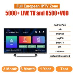 Großhandel IPTV Abonnement abonnement iptv live tv kanal spanien polen italien portugal arabisch frankreich iptv code für android tv box smart tv television