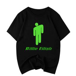 wholesale graphics tees 2019 - summer 2019 Billie Eilish T Shirt Men women couple clothes Hip Pop Streetwear bts funny t shirts Graphic Tees Tops t-shi
