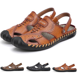 a24eba0c2843 Mens Soft Leather Sandals Australia - 2019 New product hot sale summer Mens  Fashion Soft and